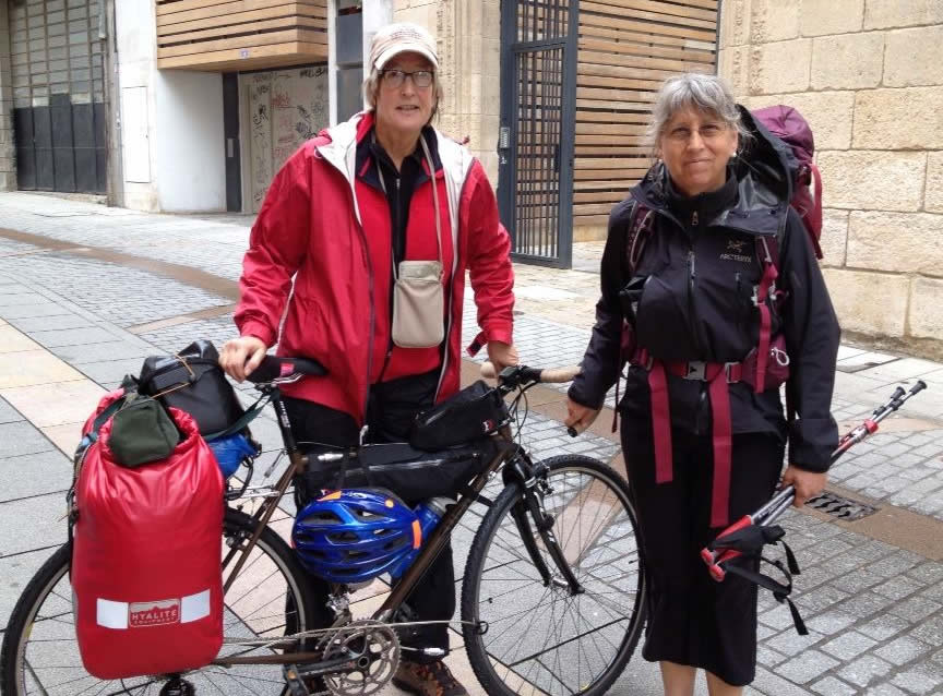 Jann Dorman and Elizabeth Black in Burgos Spain, Camino de Santiago