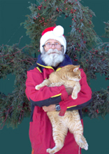 Christopher and Tiger sell wreaths